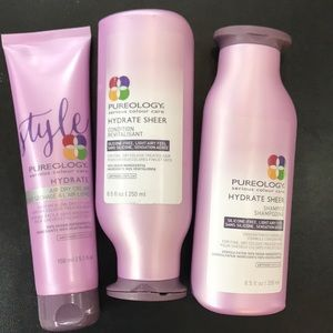 Pureology  ,Shampoo,Conditioner and air dry cream.